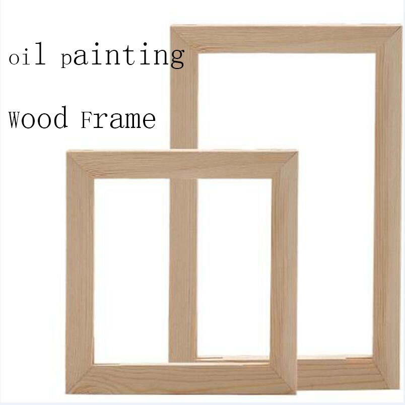 Marco de madera ancho rectangular grande En pino Medidas interiores: 30 * 45 cm crudo Para pintar Ideal para decoraci/ón y manualidades Medidas exteriores: 42 * 57 cm.