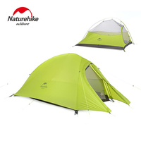 Naturehike Tent 1.2kg 20D Silicone Fabric Ultralight 2 Person Double Layers Aluminum Rod Camping Tent 4 Season With Mat