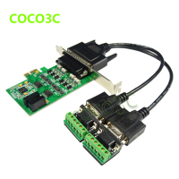Free shipping PCI E turn 2 port RS422/485 industrial serial port card PCIe 2 Port RS 422 RS 485 Controller Card