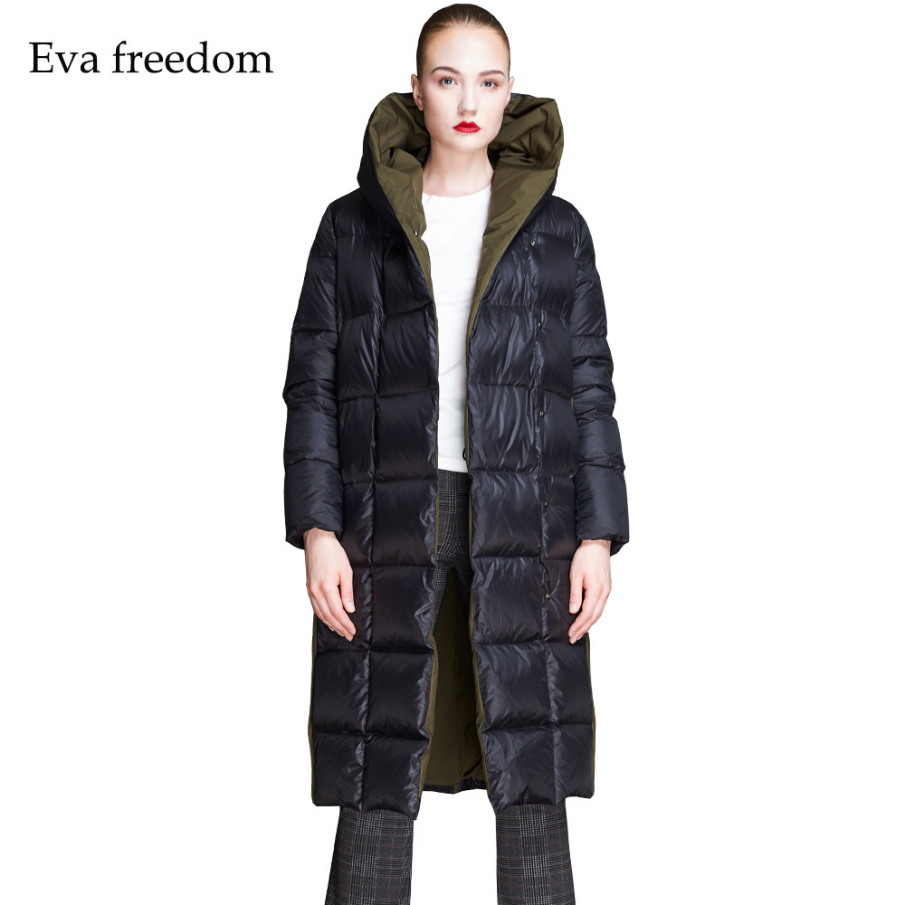 2018-2019 New stylish Brand womens down jacket loose Coat European and American Fashion Thickening Even Hat Down Jackets EF1810