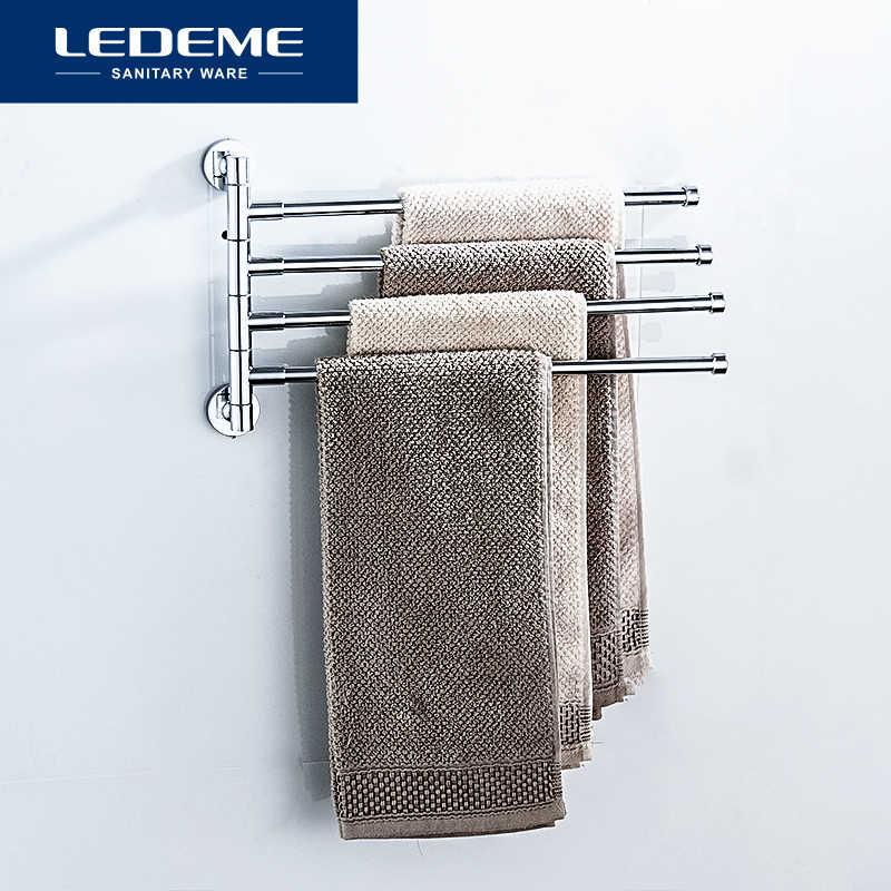 LEDEME ze stali nierdzewnej wieszak na ręczniki wieszak obrotowy na ręczniki na ścianę w kuchni/łazience do montażu na ścianie ręcznik polerowany uchwyt stojaka L112 L113 L114