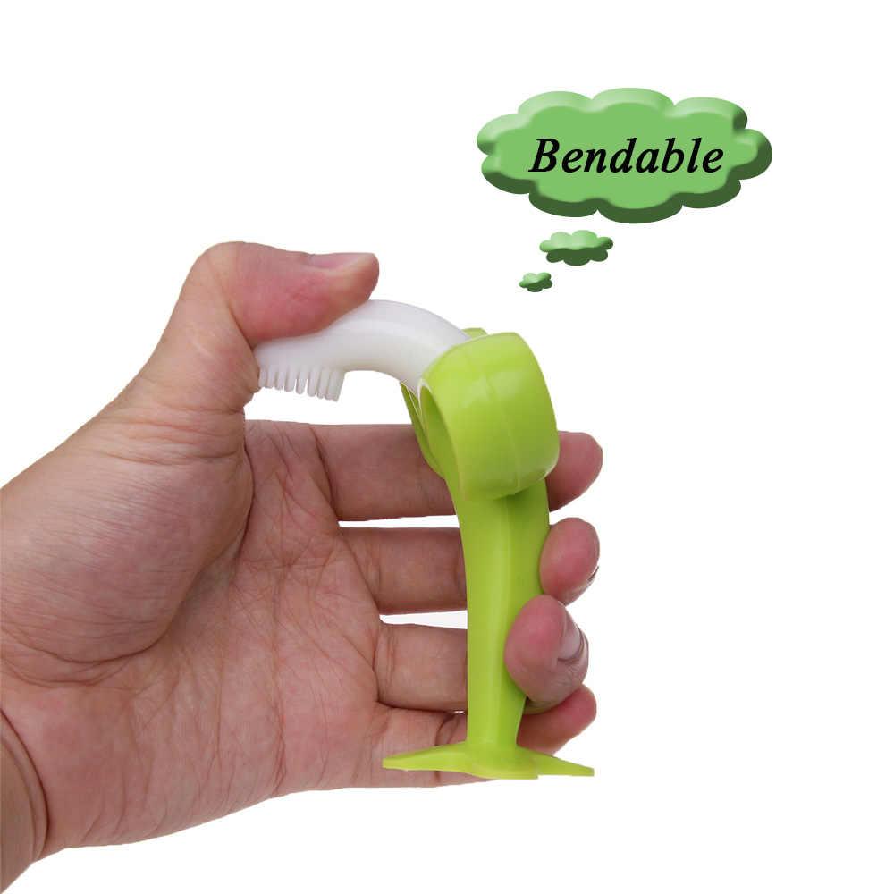 Cuaslover bebé entrenamiento cepillo de dientes bebé niños suave Banana mordedor recién nacido anillo de dentición Toddle mordedor juguetes de masticación