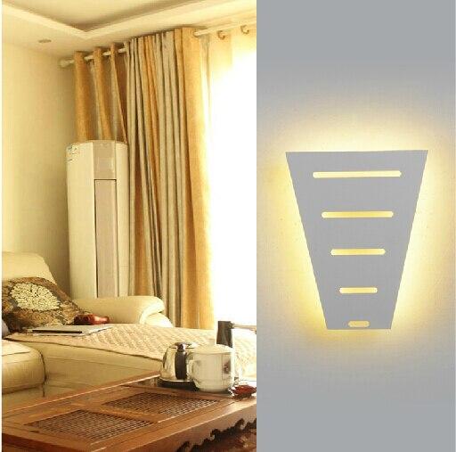 Fancy Aisle Bedroom Wall Lighting White Black Led Light Night Lampl19xw15 5xh7cm Free Shipping