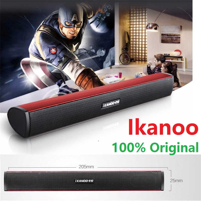 Gratis Verzending Ikanoo N12 USB Laptop Draagbare stereo Luidspreker Audio Soundbar mini USB laptop draagbare luidsprekers Sound Bar Speakers