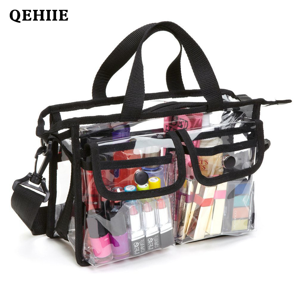 Fashion Transparent One Shoulder Cosmetic Bag EVA Waterproof Travel Beach Pouch Organizer Wash Bag Toiletry Beauty Case