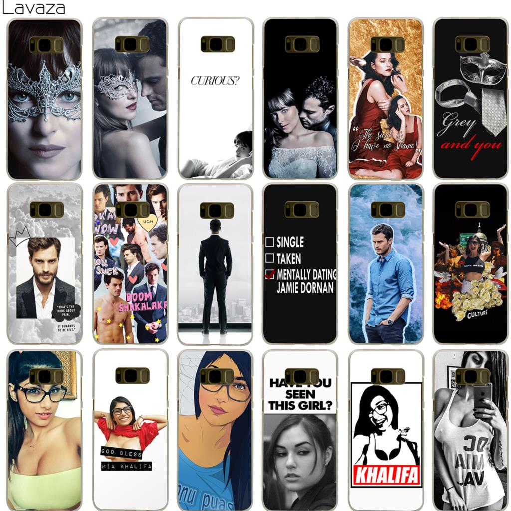Lavaza Dakota Johnson Jamie Dornan Mia Khalifa Case for Samsung Galaxy S5 S6 S7 Edge S9  ...