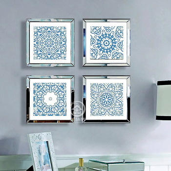Square wall mirrored photo frame multi picture frames modern wall photo frames