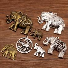 5 Pcs Mix Pendant Elephant Charm For Jewelry Making Diy Craft Supplies Elephant Decoration Charms Men Jewelry 5 pcs faux gem elephant rings