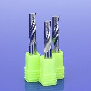 Image 2 - 1 個 3.175/4/5/6/8 ミリメートルシングルフルートフライスアルミ CNC ツール超硬ソリッド、アルミニウム複合パネル