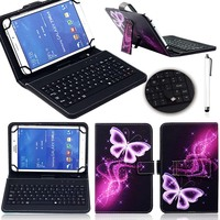 Universal Cute Print PU Leather Case Cover With Micro USB Keyboard For 7 Inch Android Tablet