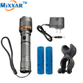 ZK10  4000LM Tactical Self Defense LED flashlight Cree XM-L T6 Rechargeable Torch lamp 18650 or 3xAAA battery Camp Cycling Light