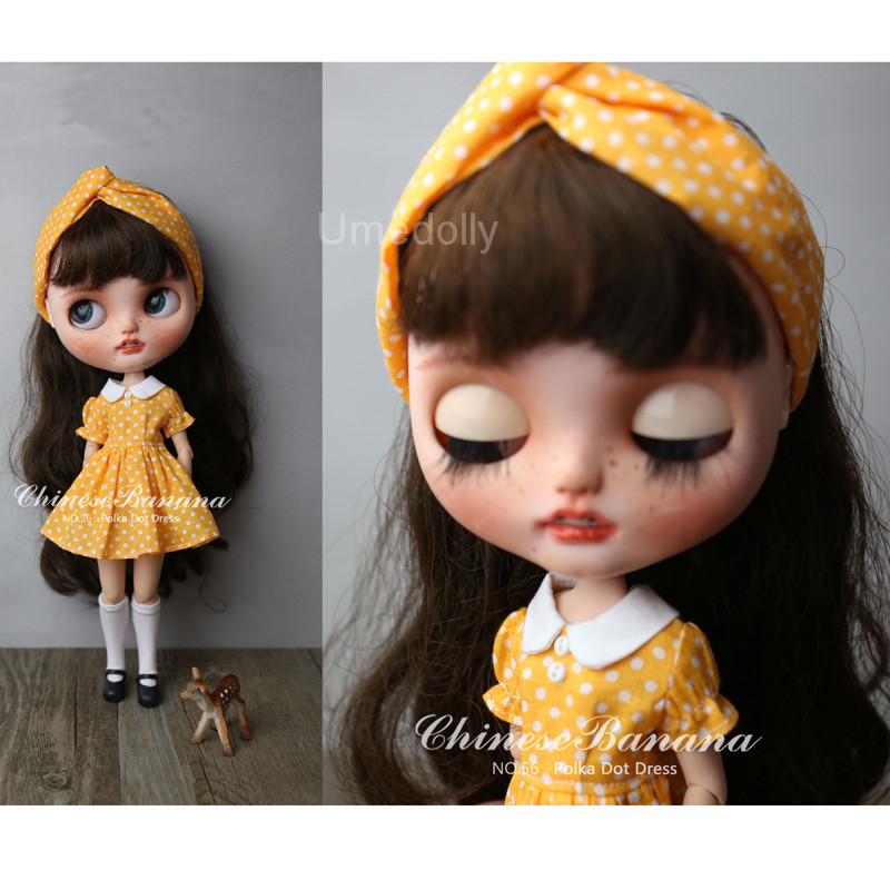 Cute Doll Dress Outfit Clothing for 1//6 Blythe Azone Licca Dolls Accessory