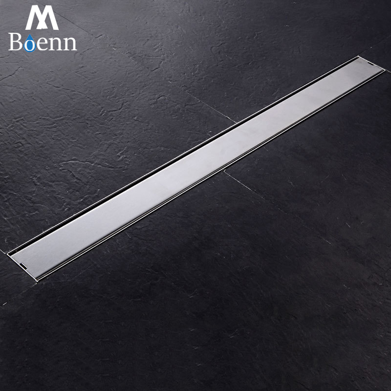 800mm Square 304 Stainless Steel Long Linear Floor Drains Grate Bathroom Shower Drain Ground Waste Water
