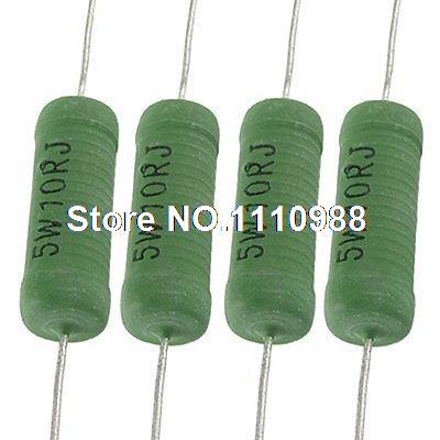 10 Pcs 5 Watt 10 Ohm 5% Axial Lead Fixed Wire Wound Resistors 500w ceramic tube resistors 75k ohm wire wound fixed tube resistance