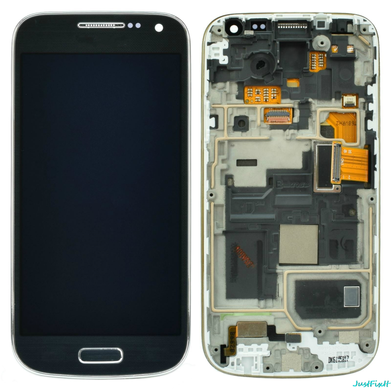 100% Tested For Samsung Galaxy S4 Mini I9190 I9195 I9192 LCD Display Touch Screen Digitizer Assembly Frame Replace image