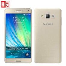 Оригинальный Samsung Galaxy A7 A7000 Мобильный телефон Dual SIM двойной 4 Г OctaCore 13MP Камера 5.5 »1080 P 2 Г RAM 16 Г ROM