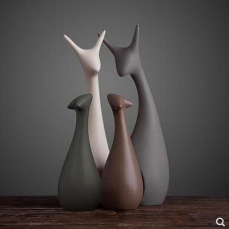 Ceramic elephant, home decoration crafts, desktop trinkets