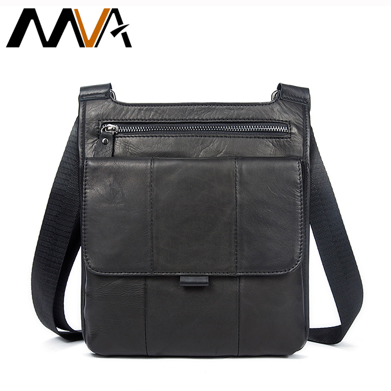 MVA Genuine Leather men's Messenger Bag Men Bag Leather male Flap Small Zipper Casual Shoulder Crossbody Bags for Men bolsas neweekend genuine leather bag men bags shoulder crossbody bags messenger small flap casual handbags male leather bag new 5867