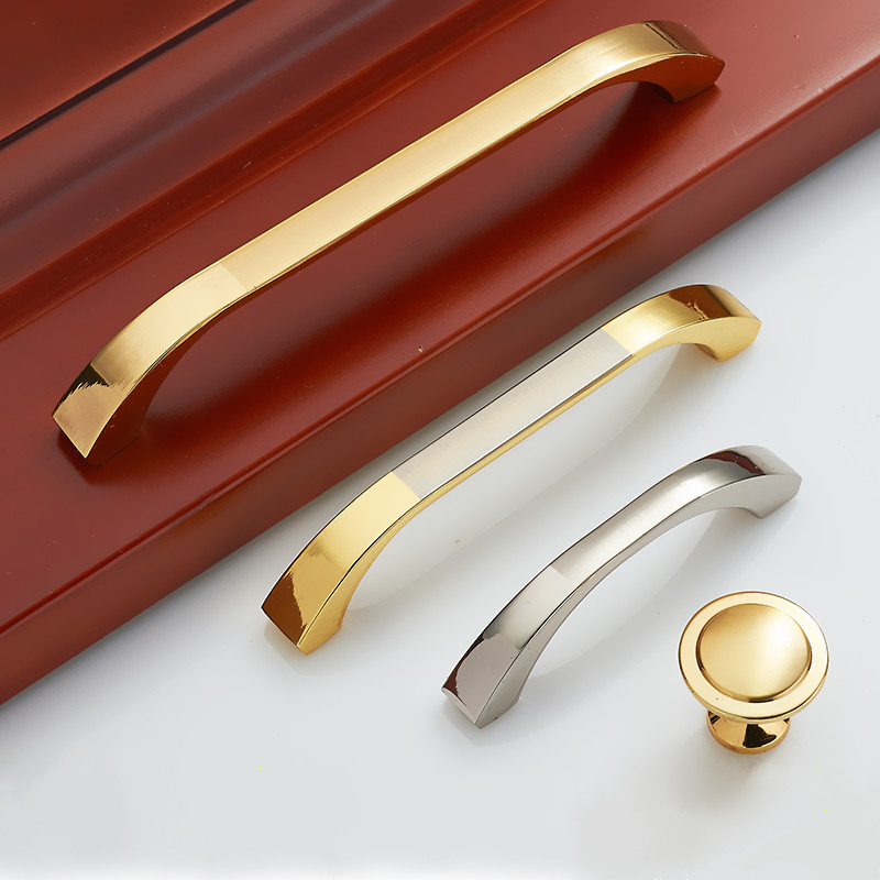 Fashion simple design cabinets knobs and handle drawers European wardrobe door hand Furniture fittings Furniture handles chrome plated modern handle c c 160mm l 184mm h 23mm drawers cabinets