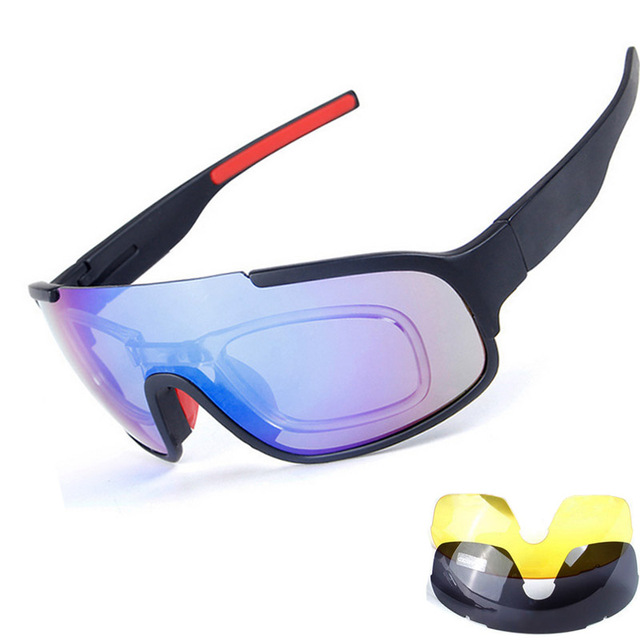 32d73edf3636 New Bicycle Cycling Glasses 3 Lens UV Bike Sunglasses Sport Men Women  Polarize Fishing Eyewear Mtb Mountain Motorcycle Goggles