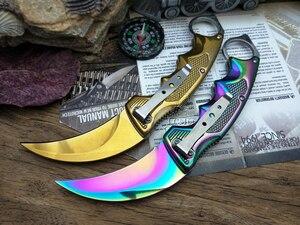 Image 3 - LCM66 vouwen Karambit Zakmes csgo Gift Tactische Zakmes, outdoor camping jungle survival battle zelfverdediging tool