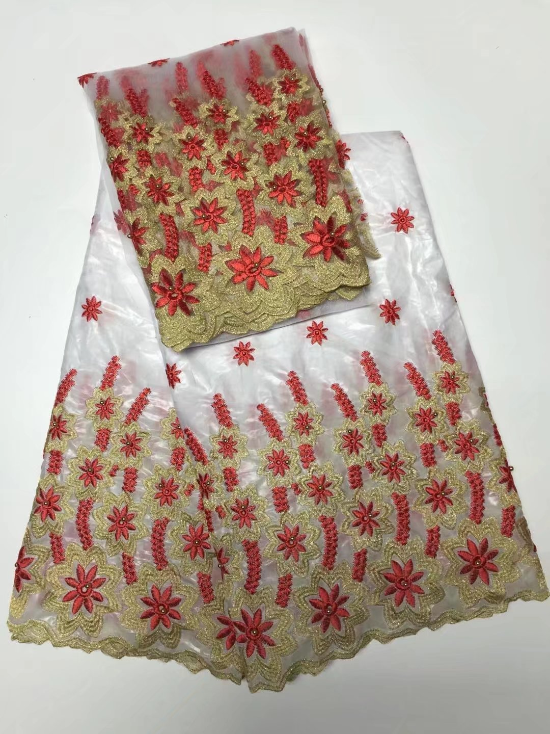Buy afican lace fabric hojilou for for Wedding dress fabric store