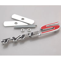 New 3D Metal Black TYPE S Racing Type S Front Side Grille Grill Badge Emblem