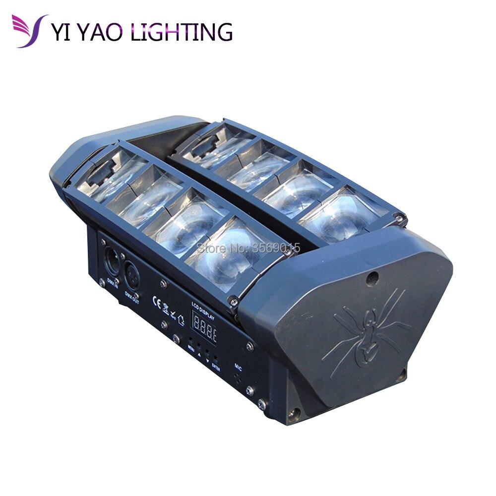 Лидер продаж Портативный Новый Moving Head светодио дный светодиодный мини паук 8*12 Вт RGBW Луч света для Рождество лазерный проектор