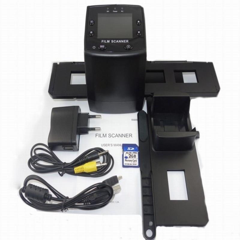 ФОТО New Top Portable Scanner 5MP 5MP 35mm Negative Film Slide Viewer Scanner USB Digital Color Photo Copier Slide B&W Viewer