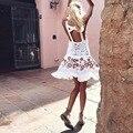 2016 el amor limones sexy Bordado mini vestido lindo vestido de encaje vestido de las mujeres