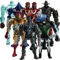 8 pçs/set aço Real ação PVC figuras Collectible modelo brinquedos bonecas crianças KT477