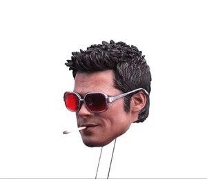Image 3 - مخصص 1/6 مقياس براد بيت رئيس نحت مع نظارات السجائر ل 12 بوصة ألعاب شخصيات الحركة معركة النسخة النسخة المعتاد