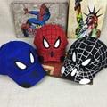 2018 Spiderman niños de dibujos animados bordado gorra de béisbol de algodón niños niño niña Hip Hop sombrero Spiderman cosplay sombrero