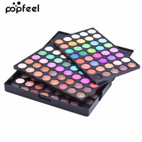 Popfeel 120 Color Eye Shadow Pearl Matte Earth Tone Nude Makeup Disc Pro Min Eye Shadow