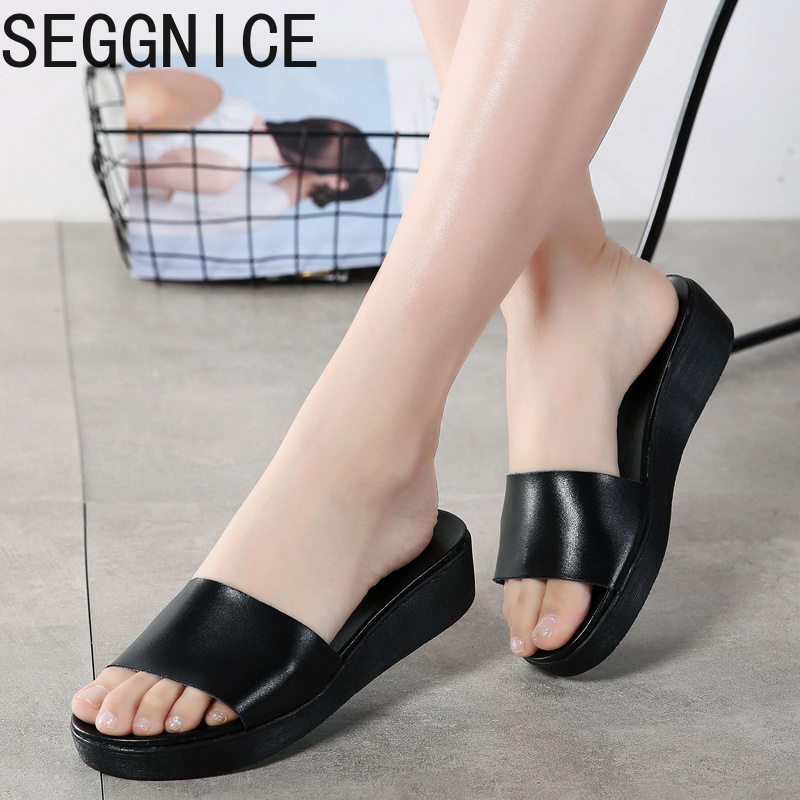 Genuine Leather Slippers Women Home Flats House Slippers Casual Simple Ladies Shoes Plus Size Summer Cute Open Toe ShoesGenuine Leather Slippers Women Home Flats House Slippers Casual Simple Ladies Shoes Plus Size Summer Cute Open Toe Shoes