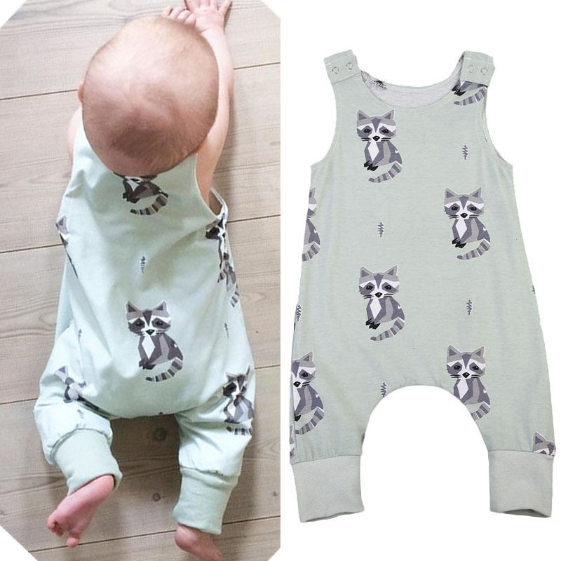 2017 New Baby Boys   Rompers   Boy Cotton Harem Jumpsuits Toddler Summer Tank   Rompers   Kids Fashion Playsuits
