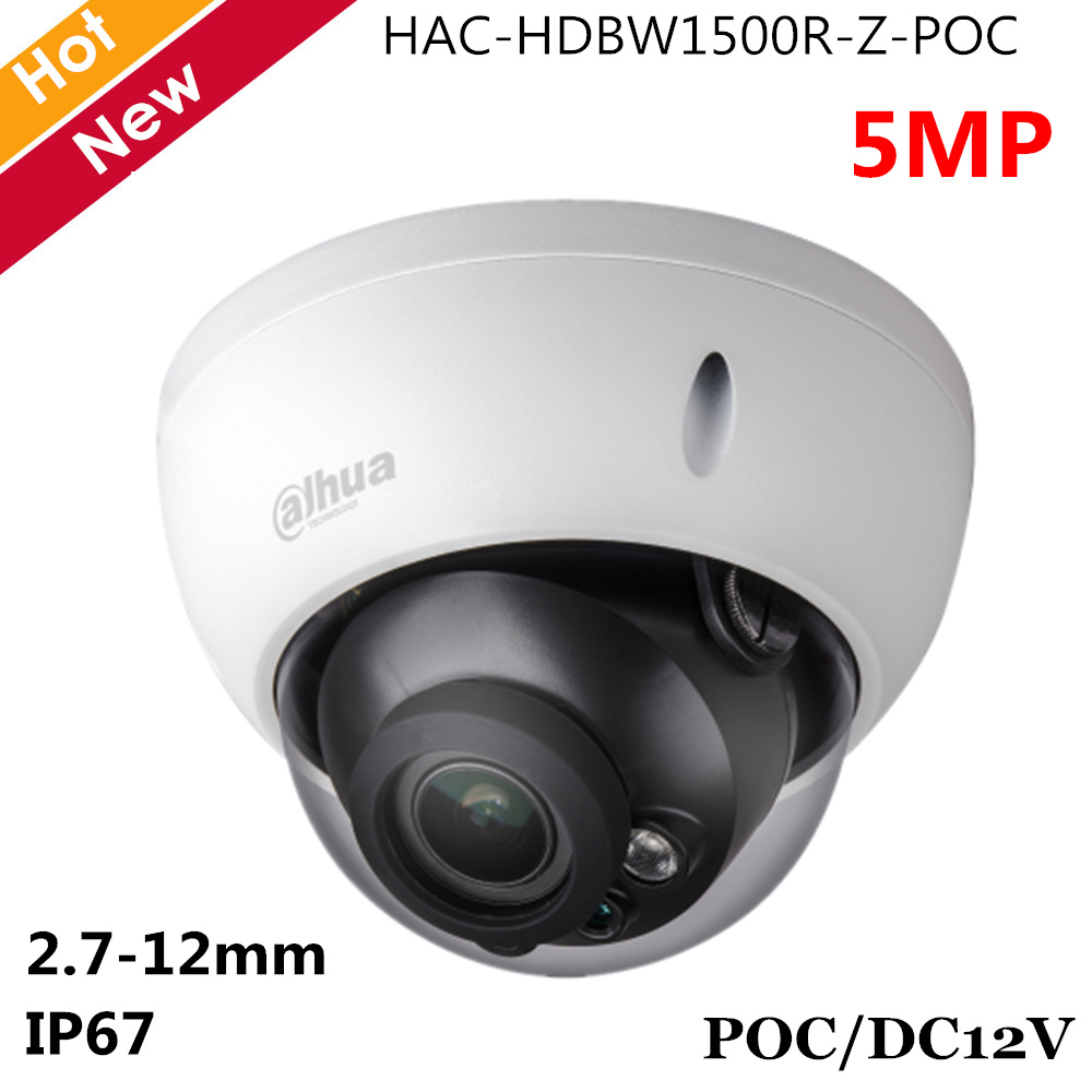 Dahua 5MP HDCVI POC Camera 2.7-12mm Motorized lens Support POC and DC12V IR 30m Dome Camera Security camera for cctv systemDahua 5MP HDCVI POC Camera 2.7-12mm Motorized lens Support POC and DC12V IR 30m Dome Camera Security camera for cctv system