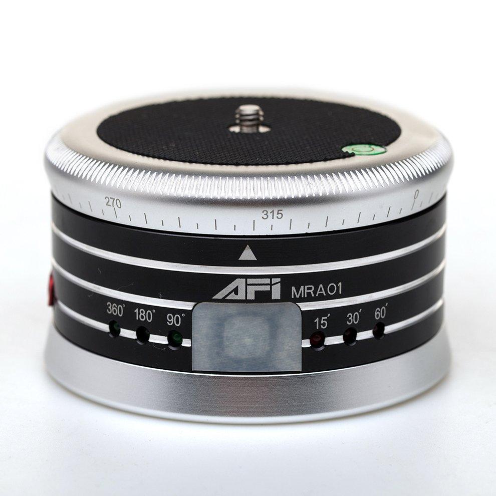 AFI MRA01 Mini Gray Electric Tripod Head 360-Degree Panorama Head Professional Metal Ball Head For GoPro Action Camera Phone