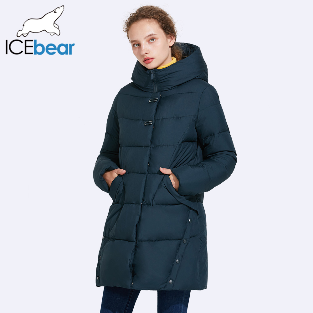 ICEbear 2017 Winter Jacket Women Placket Decorative Buckles Unique Hem Design Parka womens 17G6523 ...