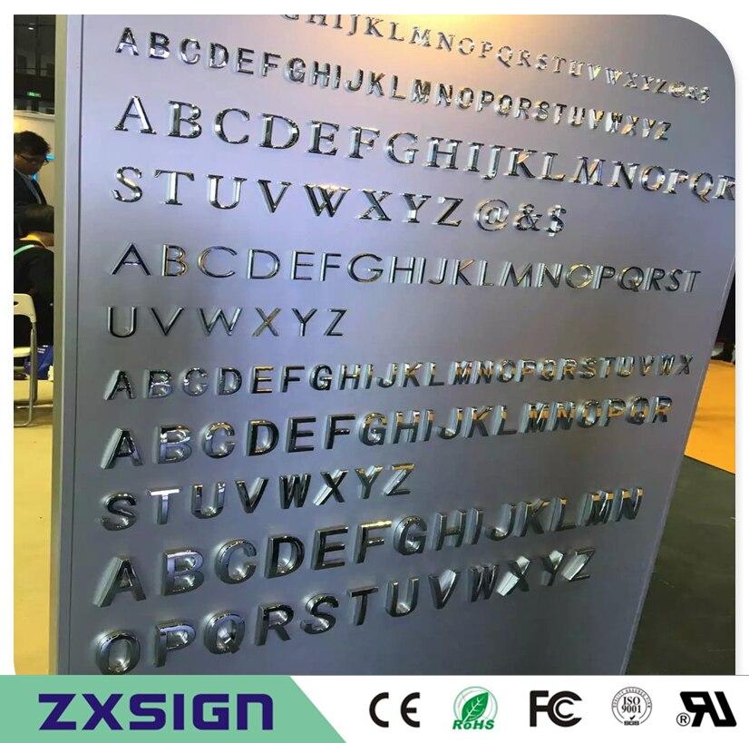 Sortie d'usine En Plein Air 304 # acier inoxydable lettre/acier inoxydable publicité letras de métal