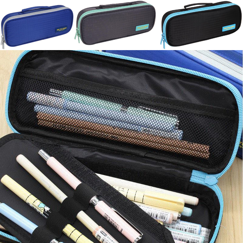 High Quality canvas Large Capacity Solid Color School Multifunctional boys Pencil Case Pen Holder Bag  Stationery Penalty 04921 high quality canvas large capacity solid color school multifunctional boys pencil case pen holder bag stationery penalty 04921