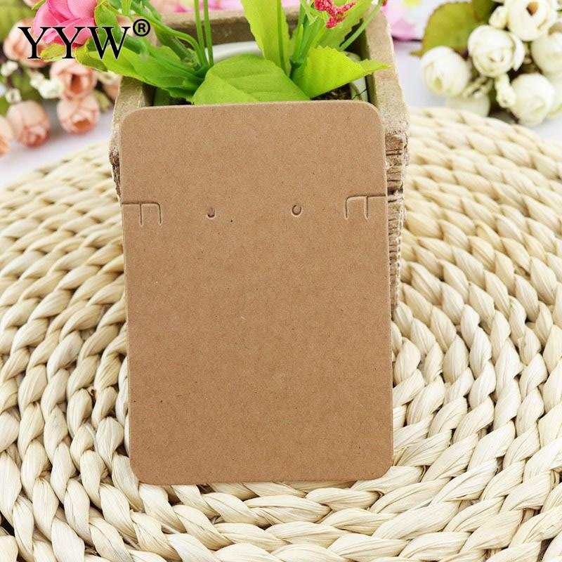 Hot Selling Kraft Paper Cardboard Jewelry Sets Necklace Earring Packaging Display Diy Accessories Card Customized Logo Printing image