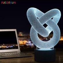 FS 2876 MODERNE NEUE GENERATION ERSTAUNLICHE 3D LED LAMPE TISCH SCHREIBTISCH oder NACHT LICHT 3DLAMP