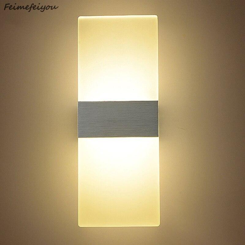 Feimefeiyou Kostium Oświetlenie Led 6 W 2229 Cm Długość Lampy Led Akrylowe ściany Ac85 265v Pościel Pokoju Pokój Dzienny Pokój Kryty Kinkiet