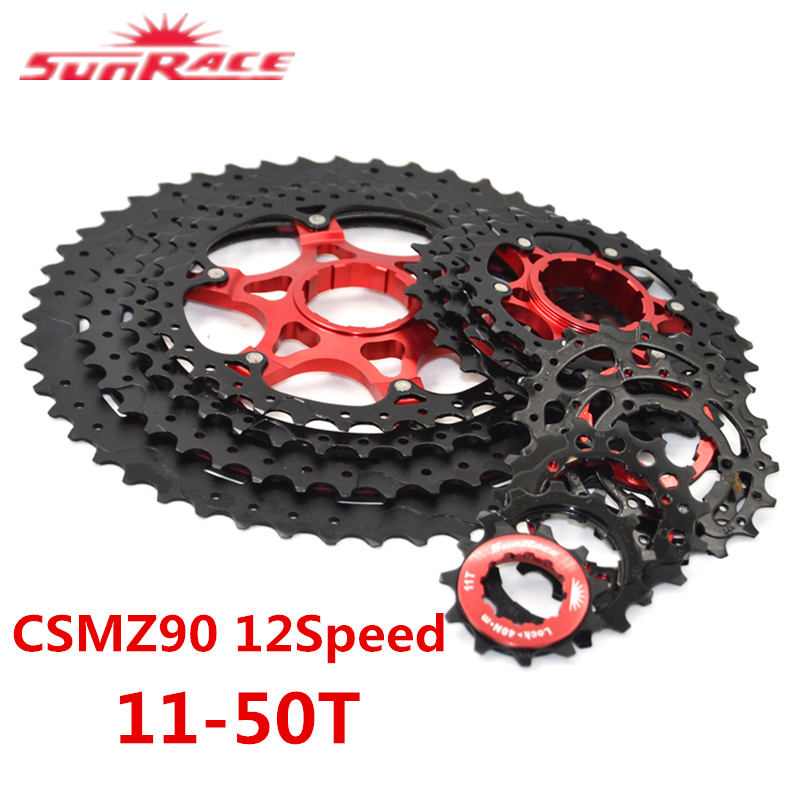 CSMZ90 11 50T 12 Speed Mountain Bicycle Cycling Cassette Tool Wide Ratio MTB Freewheel Bike Part SunRace Bicycle Freewheel|Bicycle Freewheel| |  - title=