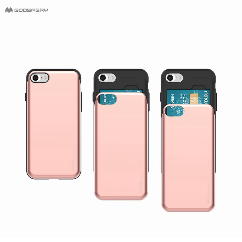 <font><b>Original</b></font> Goospery Candy Sky Slide Armor Hybrid <font><b>Case</b></font> for <font><b>iPhone</b></font> X 8 7 6 <font><b>6s</b></font> Plus Card Holder Phone Cover For <font><b>iPhone</b></font> 6 <font><b>6s</b></font> 7 Plus image