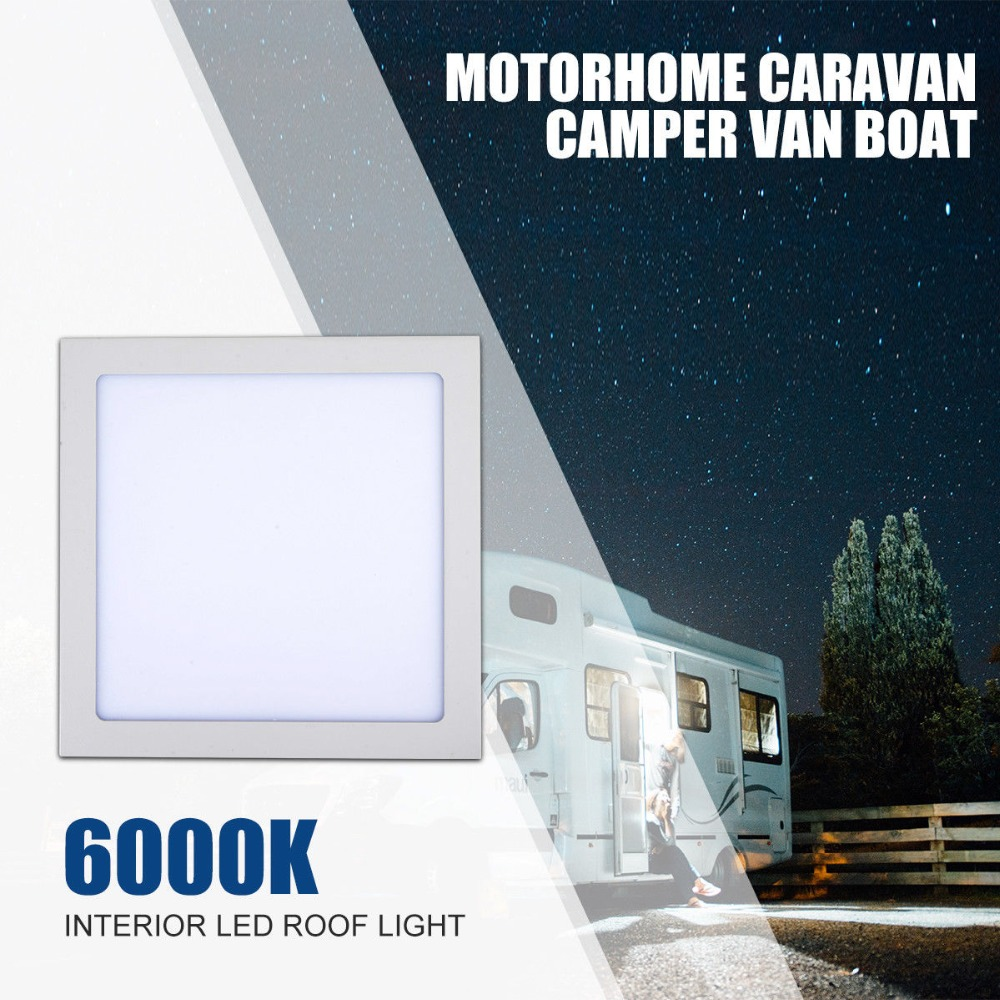 12V 24W LED Interior Roof Ceiling Light Caravan Motorhome Lighting Boat Cabinet