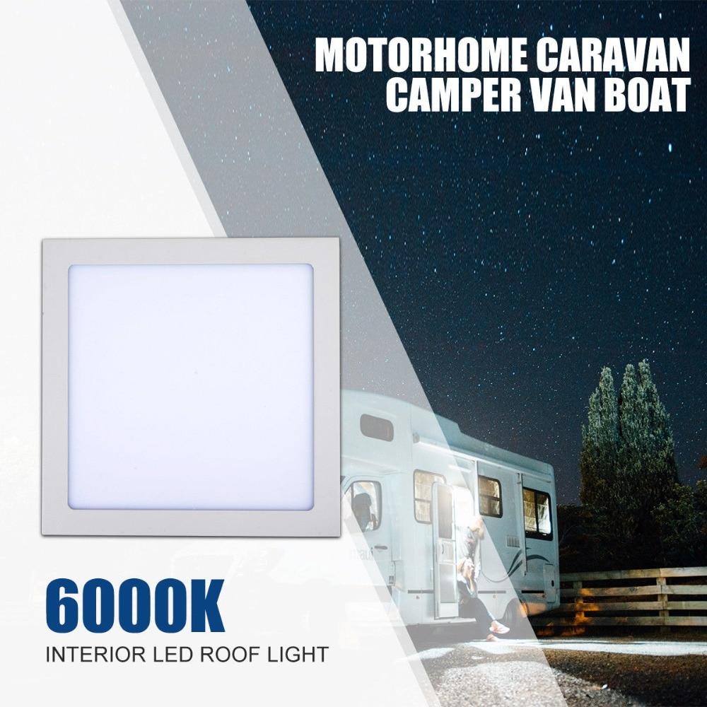 12V 24W LED Interior Roof Ceiling Light Caravan Motorhome Lighting Boat Cabinet