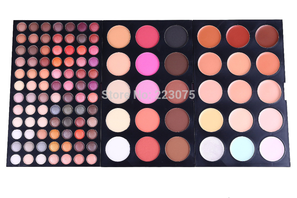 Pro 114 colors Makeup Pallette 15 Blush 15 Concealer Camouflage 84 eyeshadow Kit Beauty Cosmetic