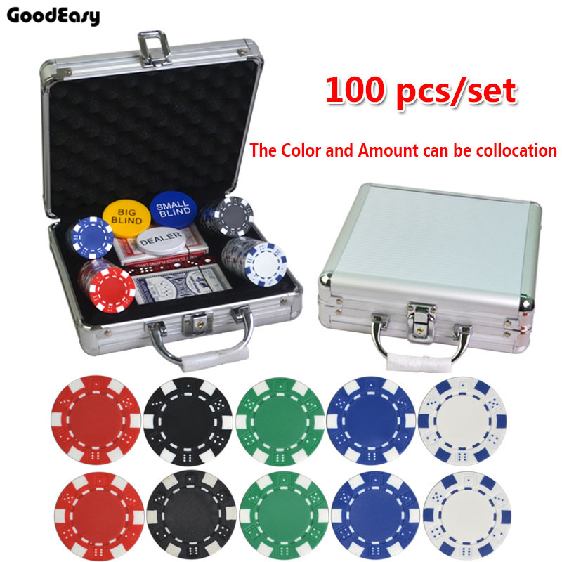 100pcs 500pcs set 5 Colors 11 5g pcs ABS Poker Chips Coins Texas Hold em Poker